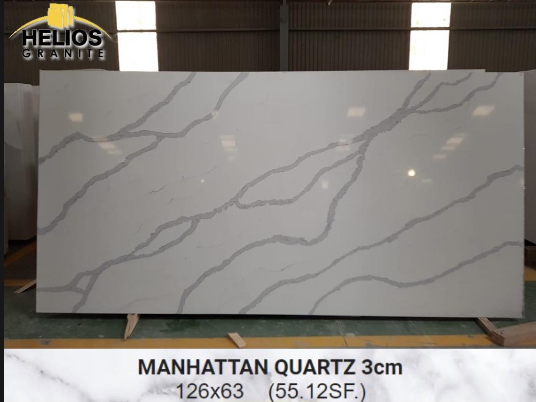 Helios Quartz - Calacata Manhattan 3cm